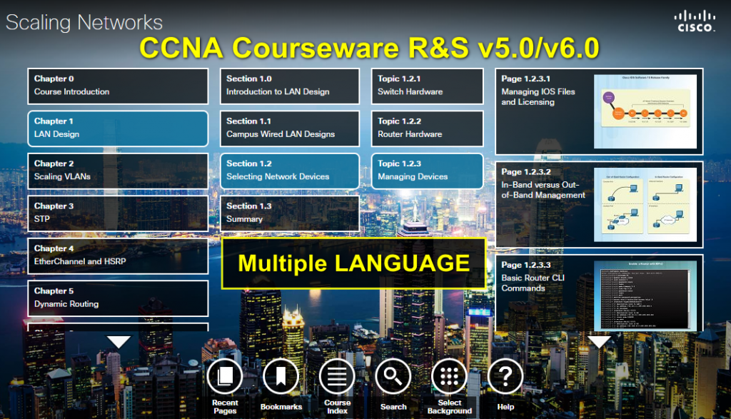 Courseware: CCNA Routing & Switching v5.0/v6.0/v7.0 Online Curriculum 1