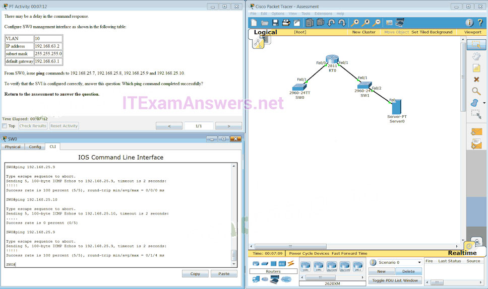 CCNA 2 (v5.0.3 + v6.0) Practice Final Exam Answers 2020 - 100% Full 29