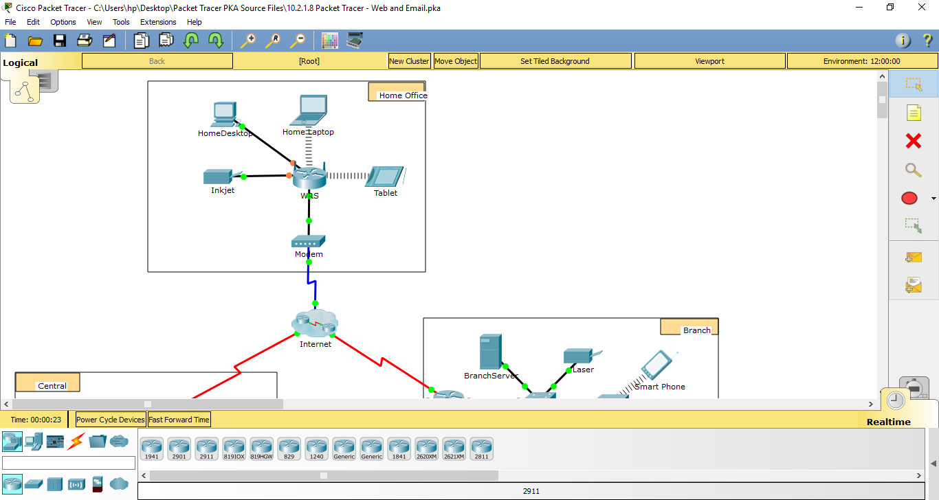 10 2 1 7/10 2 1 8 Packet Tracer - Web and Email Instructions