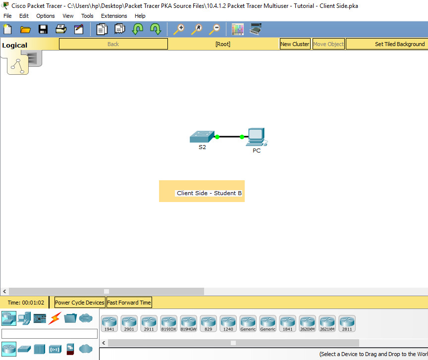 10.3.1.3 Packet Tracer - Multiuser - Tutorial - Instruction Answers 14