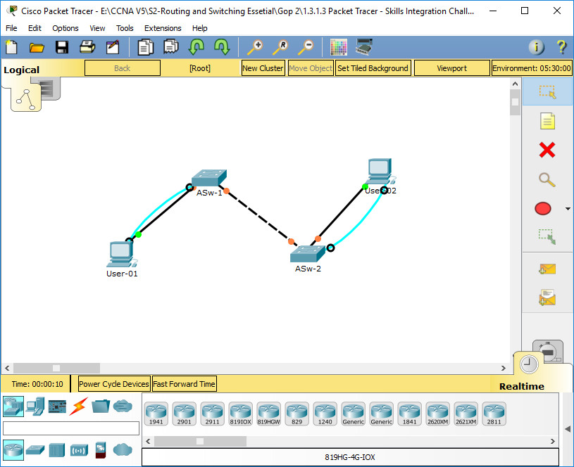 1.3.1.3 Packet Tracer - Skills Integration Challenge Instructions Answers 1
