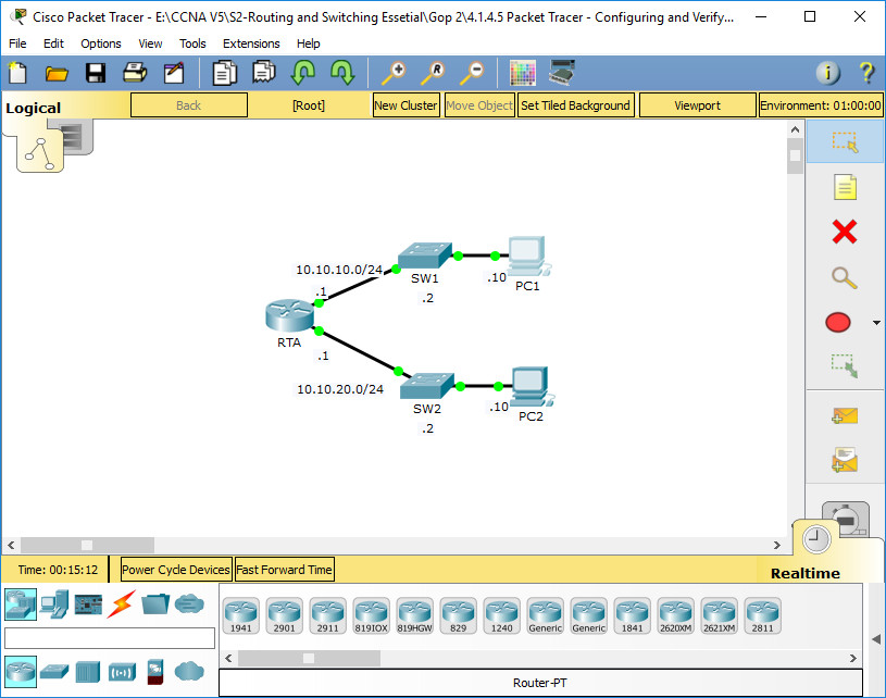 1.1.4.5 Packet Tracer - Configuring and Verifying a Small Network Instructions Answers 1