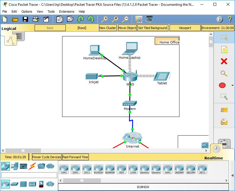 1.1.2.9 Packet Tracer - Documenting the Network Instructions Answers 1