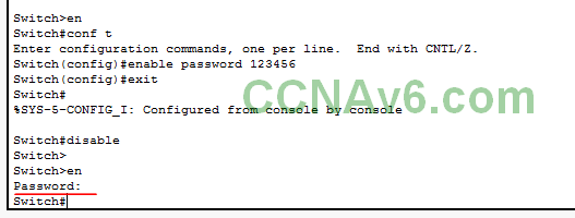 Chapter 5 - Configuring and Encrypting Passwords on Cisco Routers and Switches 6