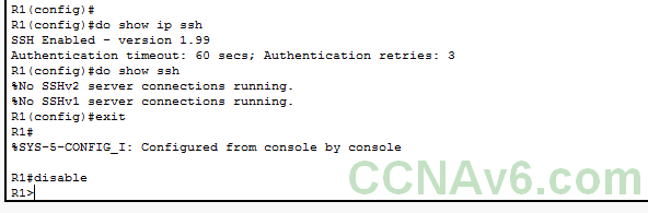 Chapter 6 - Enabling SSH on Cisco Routers and Switches 10
