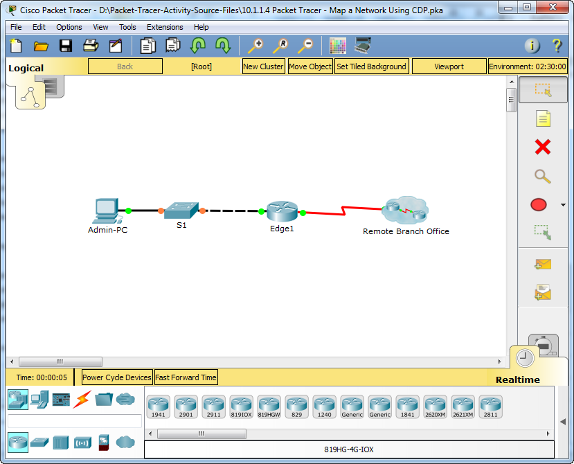 10.1.1.4 Packet Tracer - Map a Network Using CDP Answers 8
