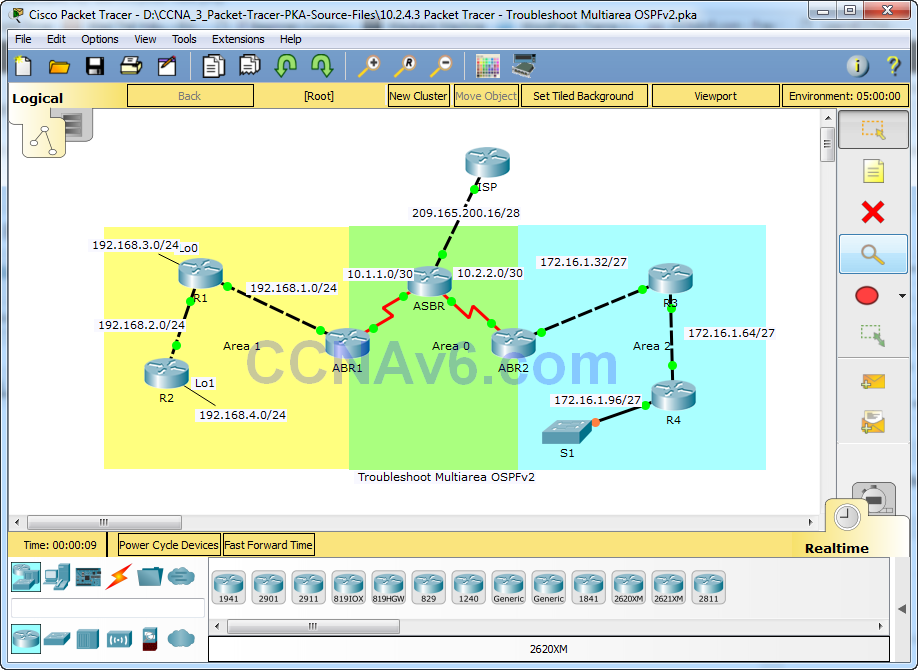 10.2.4.3 Packet Tracer - Troubleshoot Multiarea OSPFv2 Answers 7