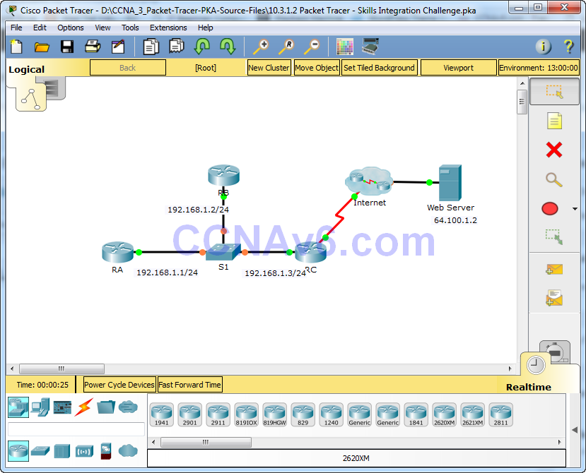 10.3.1.2 Packet Tracer - Skills Integration Challenge Instructions Answers 1