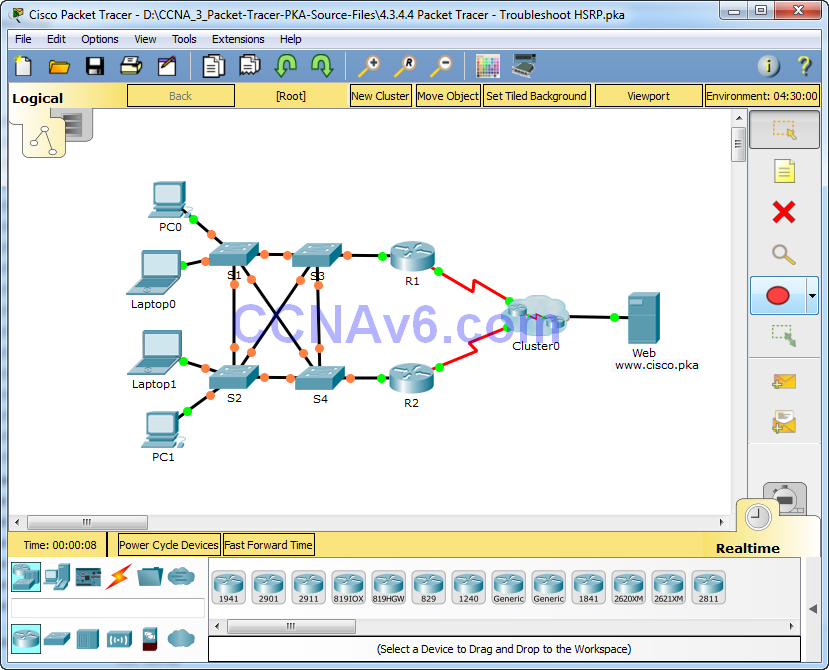 4.3.4.4 Packet Tracer - Troubleshoot HSRP Answers 1