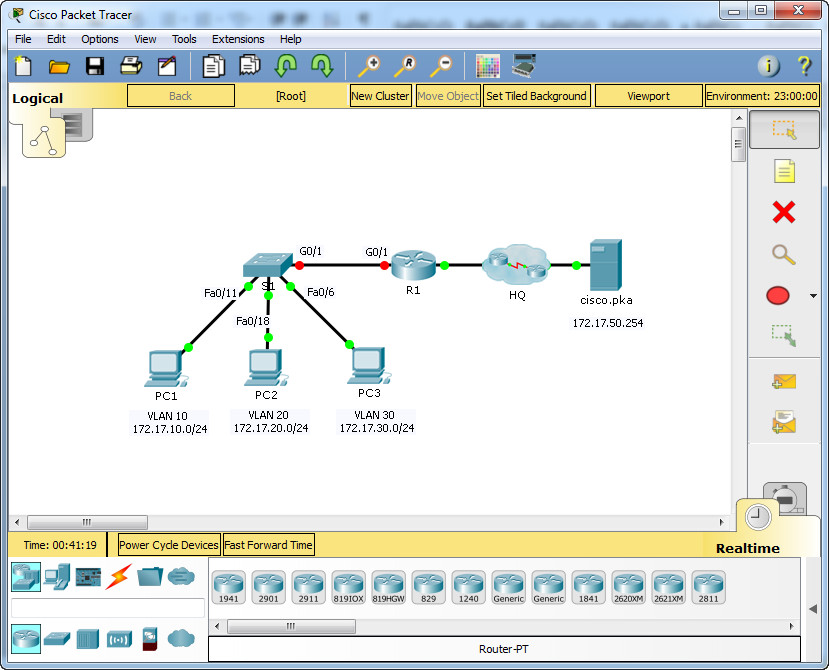 6.3.3.8 Packet Tracer - Inter-VLAN Routing Challenge Instructions Answers 4