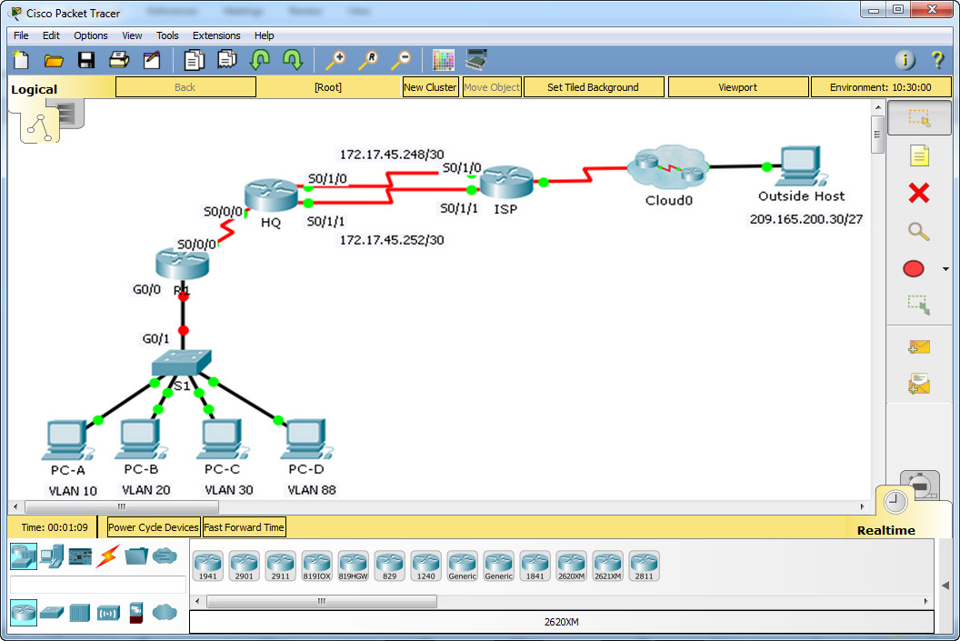 6.4.1.2 Packet Tracer - Skills Integration Challenge Instructions Answer 4
