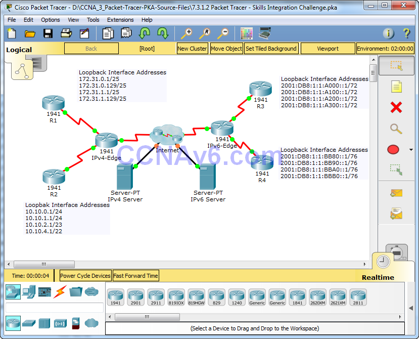 7 3 1 2 Packet Tracer Skills Integration Challenge Instructions Answers