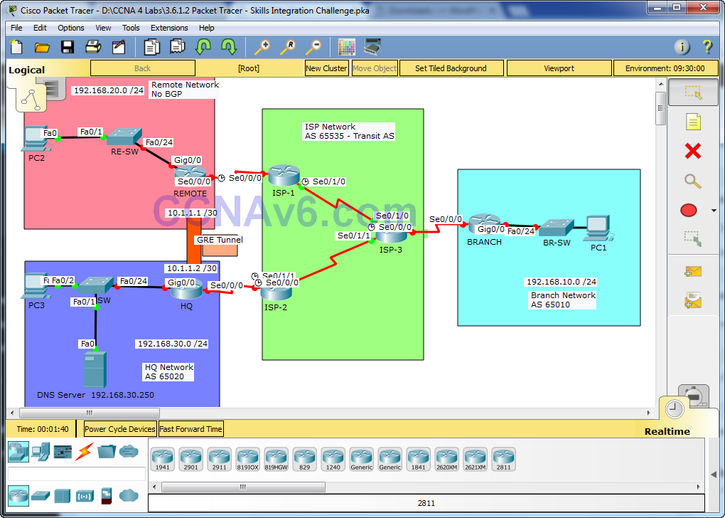 3 6 1 2 Packet Tracer - Skills Integration Challenge Answers