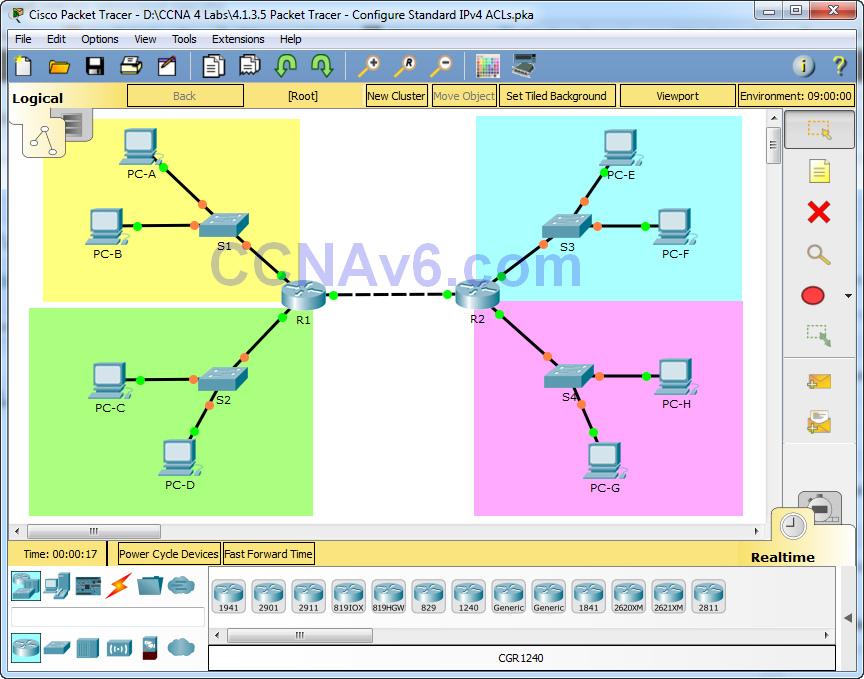4.1.3.5 Packet Tracer - Configure Standard IPv4 ACLs Answers 1