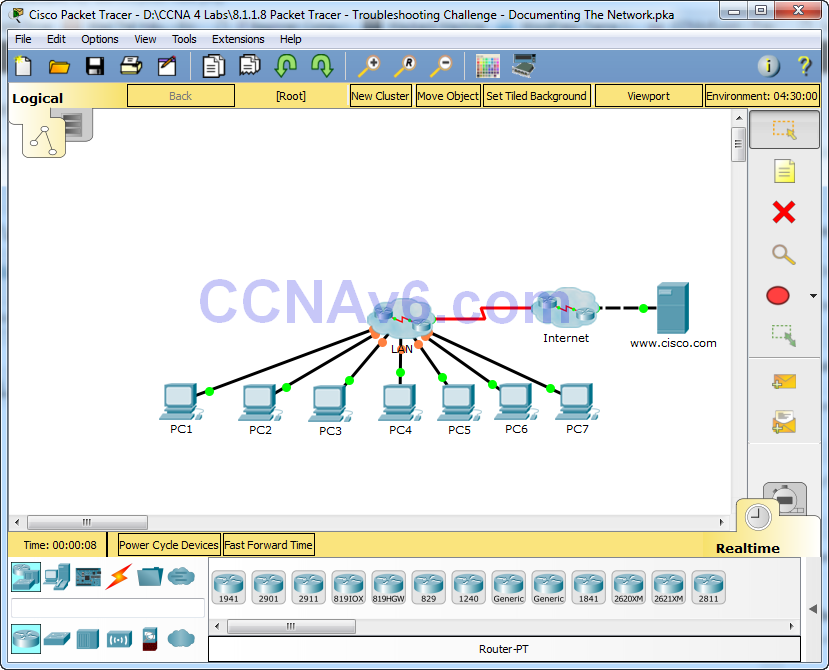 8.1.1.8 Packet Tracer - Troubleshooting Challenge - Documenting The Network Instructions Answers 21