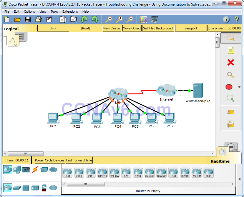 8.2.4.15 Packet Tracer - Troubleshooting Challenge - Using Documentation to Solve Issues Answers 5