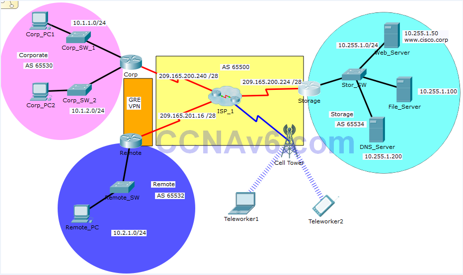 Chapter 3 SIC PPP, Routing, and Remote Access VPN - PT Skills Assessment 41