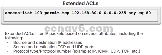 CCNA 4 v6.0 Study Material – Chapter 4: Access Control Lists 71
