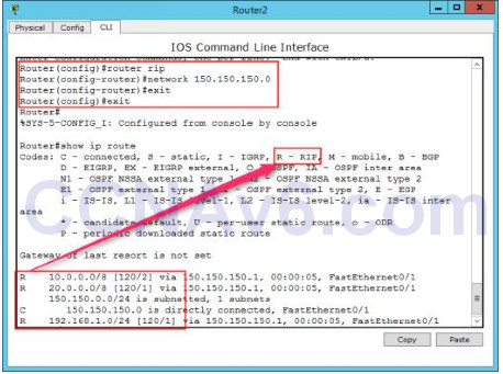 Lab 107: Configuring RIP Routing 2
