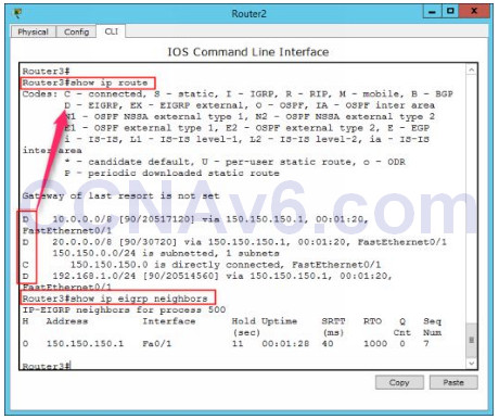 Lab 108: Configuring EIGRP Routing 2