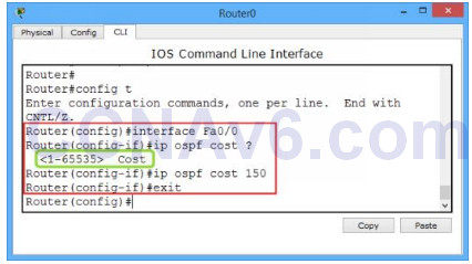 Lab 110: Configuring OSPF Cost Metric 1
