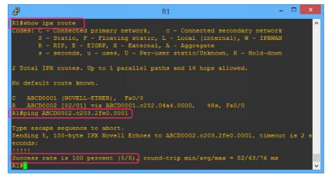 Lab 111: Configuring IPX Routing 6