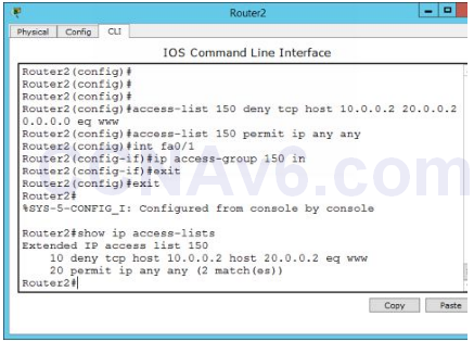 Lab 126: Configuring Access Control Lists (ACLs) 9
