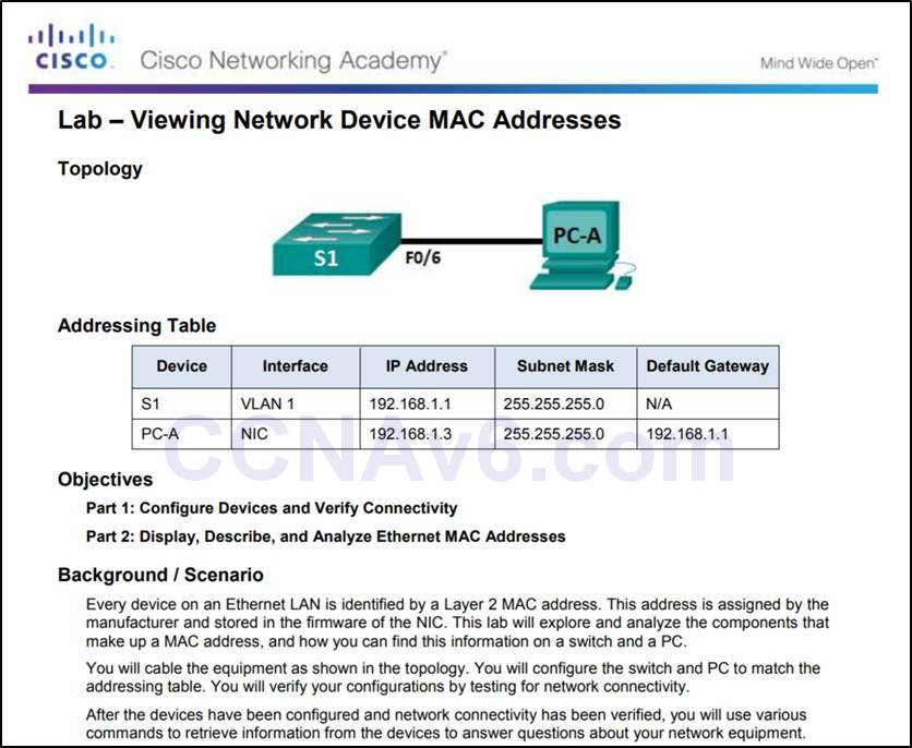 Introduction to Networks 6.0 Instructor Materials – Chapter 5: Ethernet 54