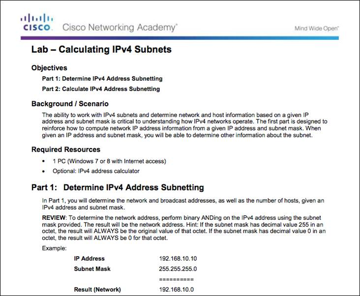 Introduction to Networks 6 0 Instructor Materials – Chapter