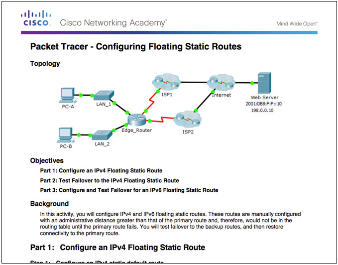 Routing and Switching Essentials 6.0 Instructor Materials – Chapter 2: Static Routing 135
