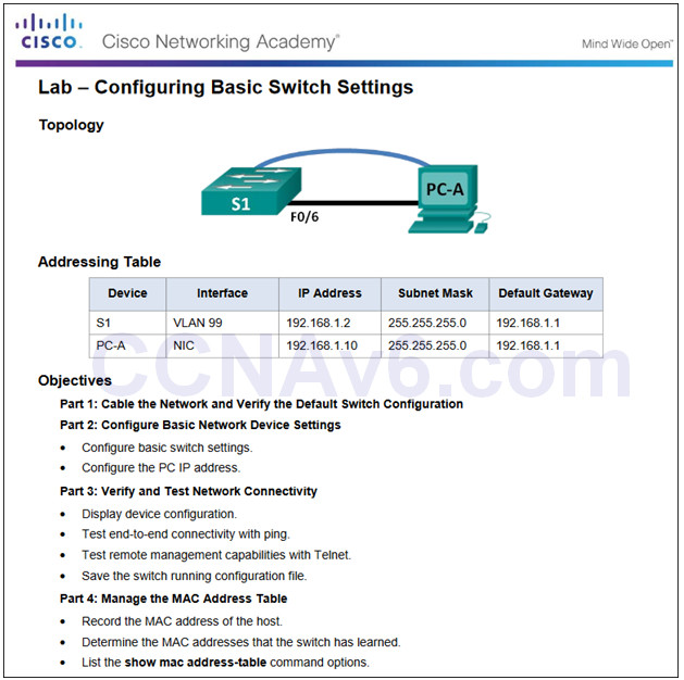 Routing and Switching Essentials 6.0 Instructor Materials – Chapter 5: Switch Configuration 46