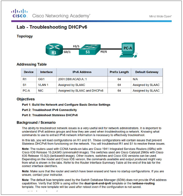 Routing and Switching Essentials 6.0 Instructor Materials – Chapter 8: DHCP 87