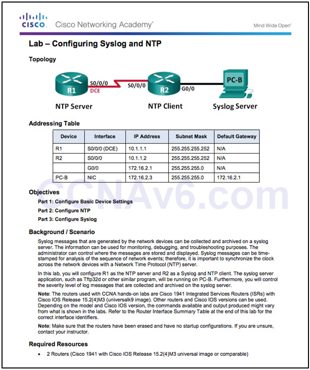 Routing and Switching Essentials 6.0 Instructor Materials – Chapter 10: Device Discovery, Management, and Maintenance 119
