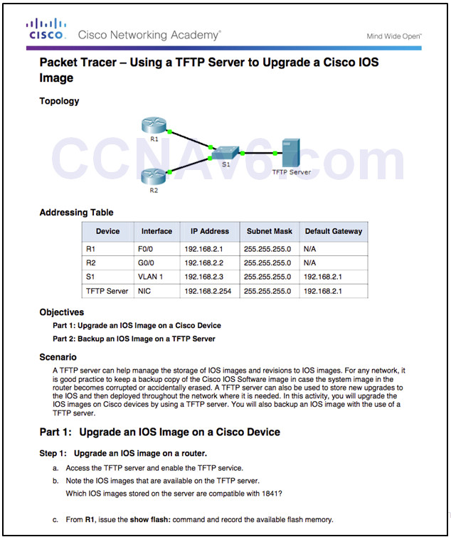 Routing and Switching Essentials 6.0 Instructor Materials – Chapter 10: Device Discovery, Management, and Maintenance 146