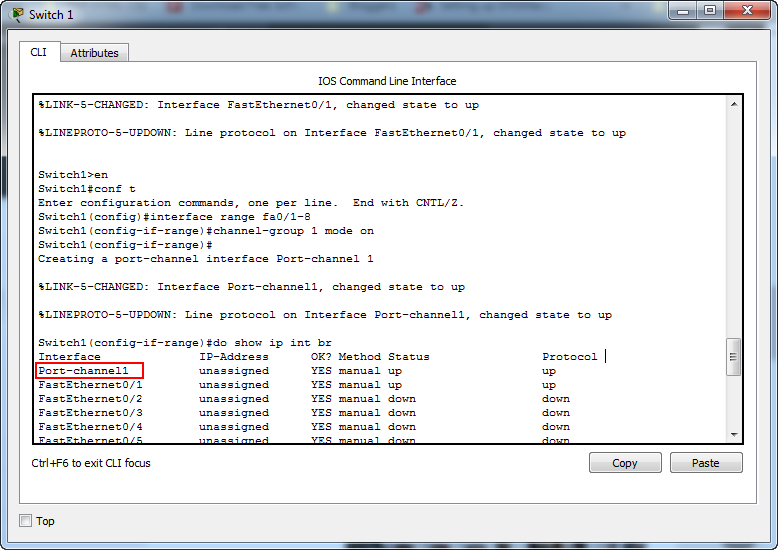Cisco Packet Tracer for Beginners: Chapter 7 - Configuring etherchannel on a Cisco Switch 3
