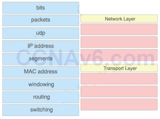 CCNA 200-125 Exam: Drag and Drop With Answers 2