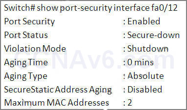 CCNA 200-125 Exam: Port Security Questions With Answers 3