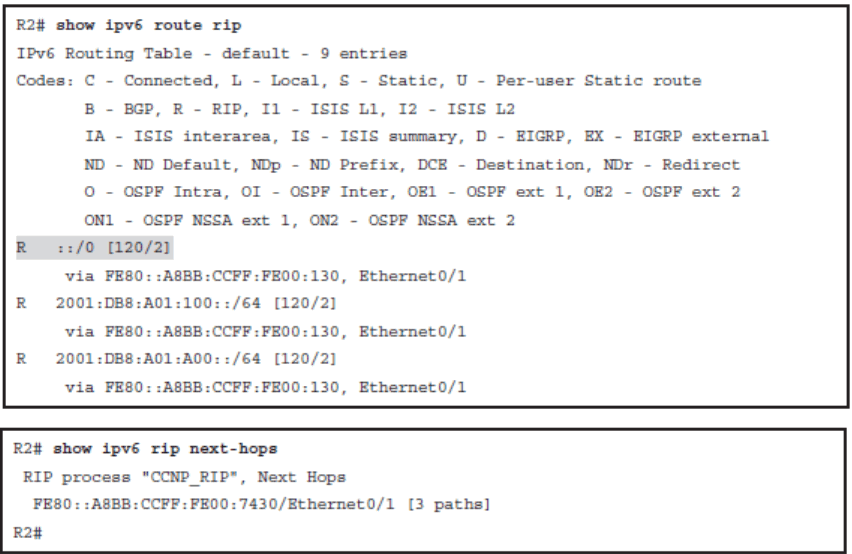 CCNP ROUTE (Version 7) – Chapter 1: Basic Network and Routing Concepts 85
