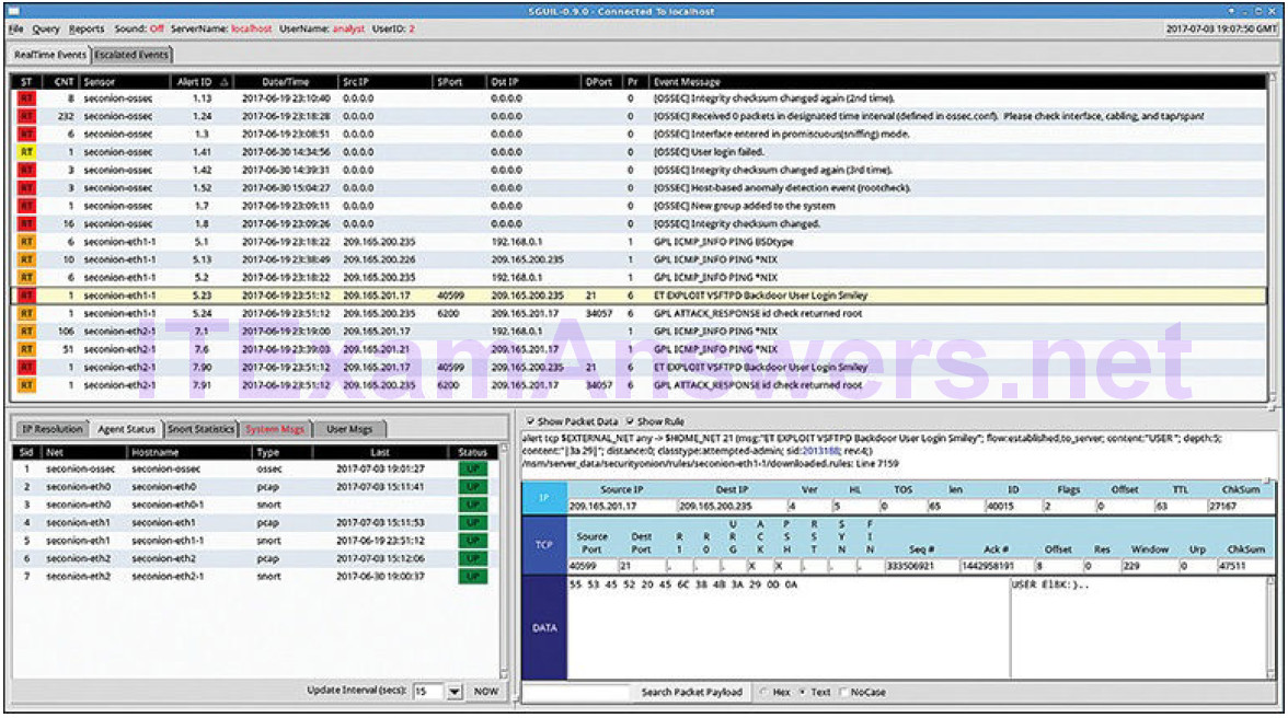 CCNA Cyber Ops (Version 1.1) – Chapter 12: Intrusion Data Analysis 22