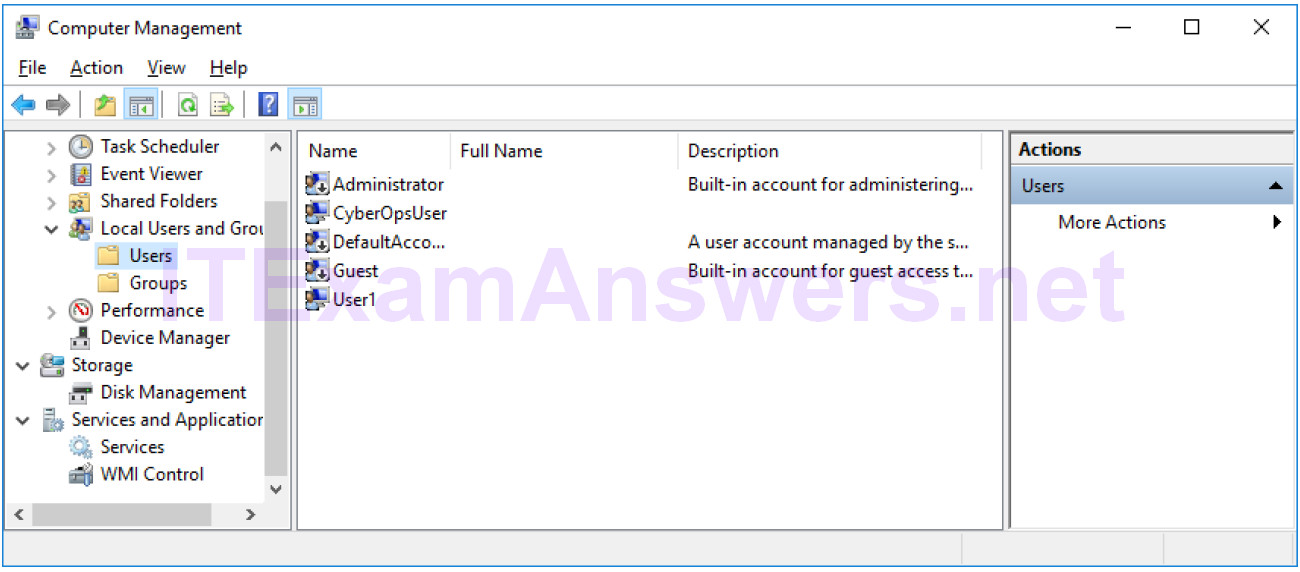 2.2.1.10 Lab – Create User Accounts (Instructor Version) 8