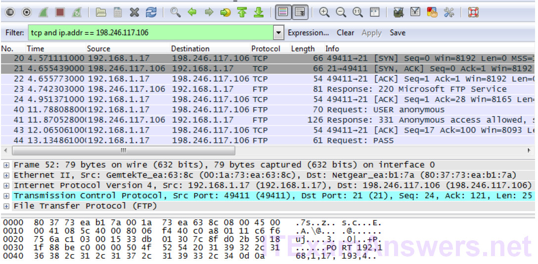 4.6.4.3 Lab – Using Wireshark to Examine TCP and UDP Captures (Instructor Version) 3