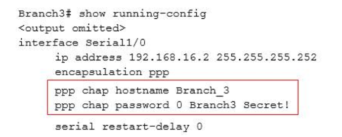 Refer to the topology below and answer the following question. Why has the Branch3 router lost connectivity with R1? Use only show commands to troubleshoot because usage of the debug command is restricted on the Branch3 and R1 routers? 5