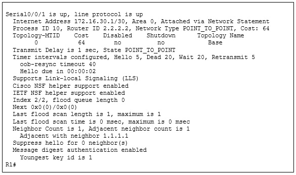 CCNA 3 v7 Modules 1 - 2: OSPF Concepts and Configuration Exam Answers 7