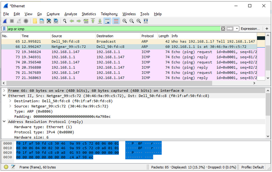 7.1.6 Lab - Use Wireshark to Examine Ethernet Frames (Answers) 6
