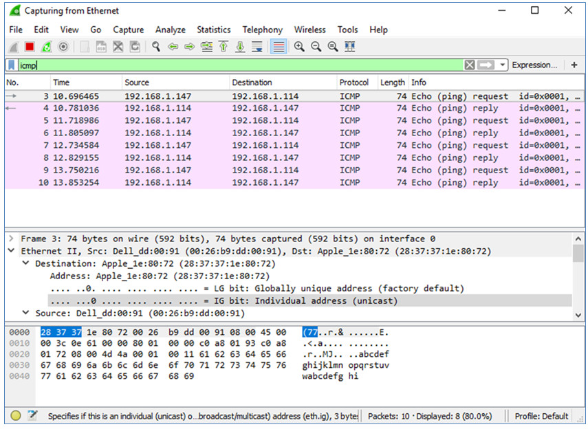 3.7.10 Lab - Use Wireshark to View Network Traffic (Answers) 4
