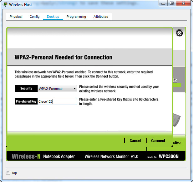 13.2.7 Packet Tracer – Configure a Basic WLAN on the WLC – Instructions Answer 9