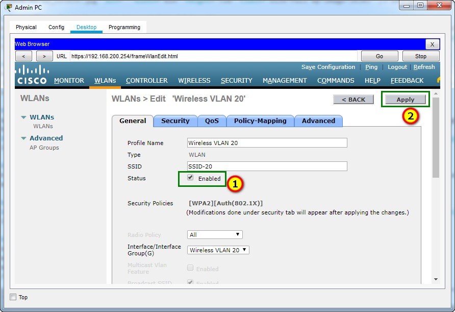 13.4.5 Packet Tracer – Troubleshoot WLAN Issues (Instructions Answer) 6