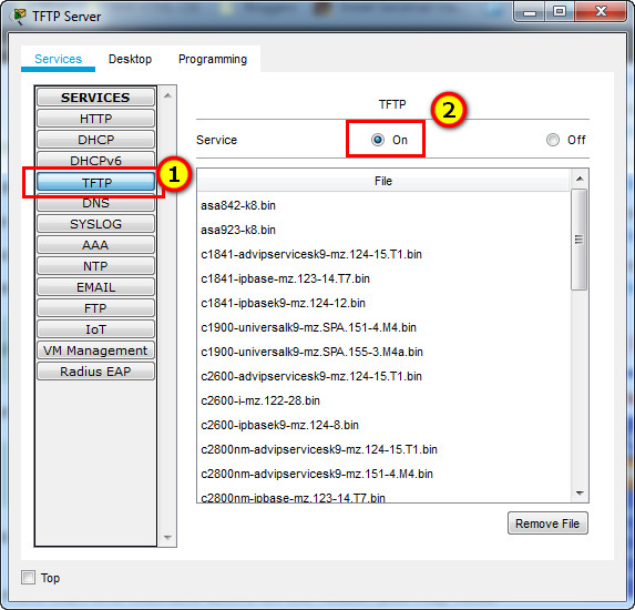 10.7.6 Packet Tracer - Use a TFTP Server to Upgrade a Cisco IOS Image (Answers) 5