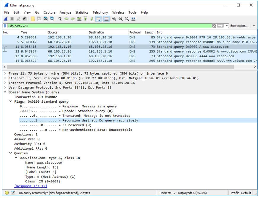 3.8.8 Lab - Explore DNS Traffic (Answers) 14