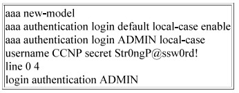 Refer to the exhibit. An engineer must create a configuration that executes the show run command and then terminates the session when user CCNP logs in. Which configuration change is required'' 2